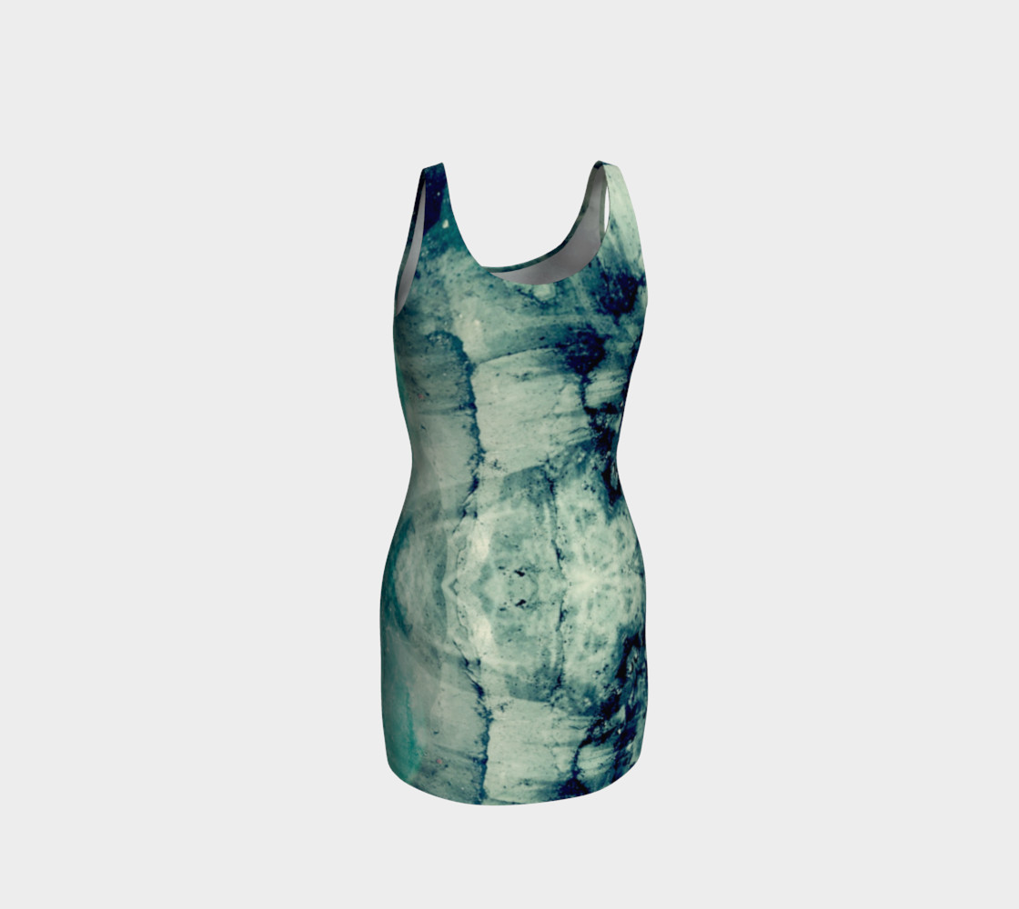 Lake art bodycon dress preview #3