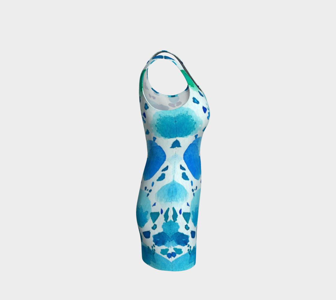 Aperçu de Blue Watercolour Dalmatian Print #4