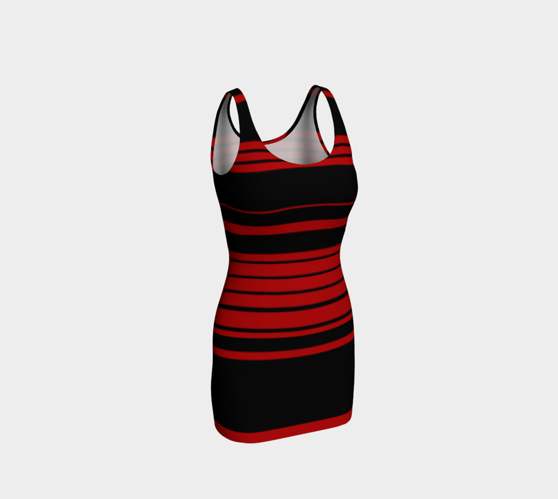 3 Red Stripes You're Out Bodycon Dress preview #1