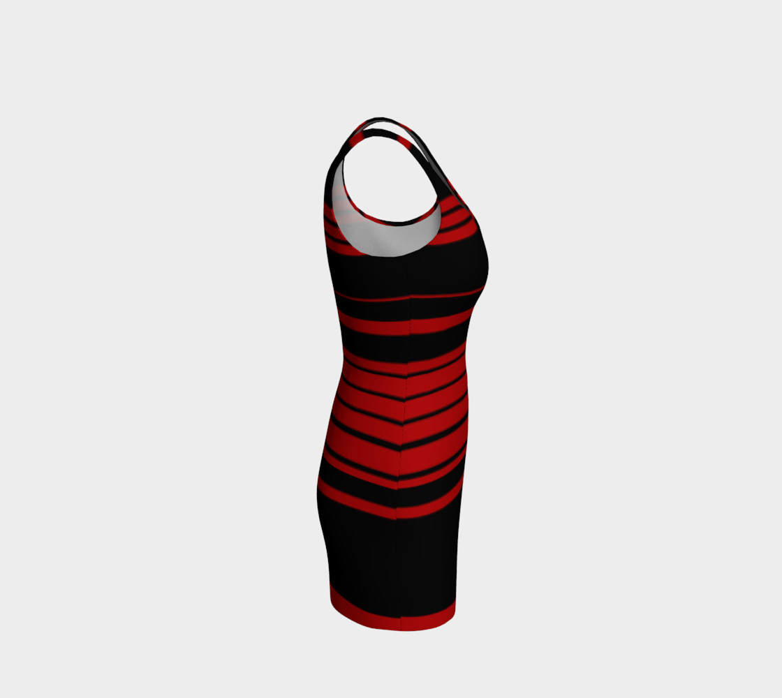 3 Red Stripes You're Out Bodycon Dress preview #4