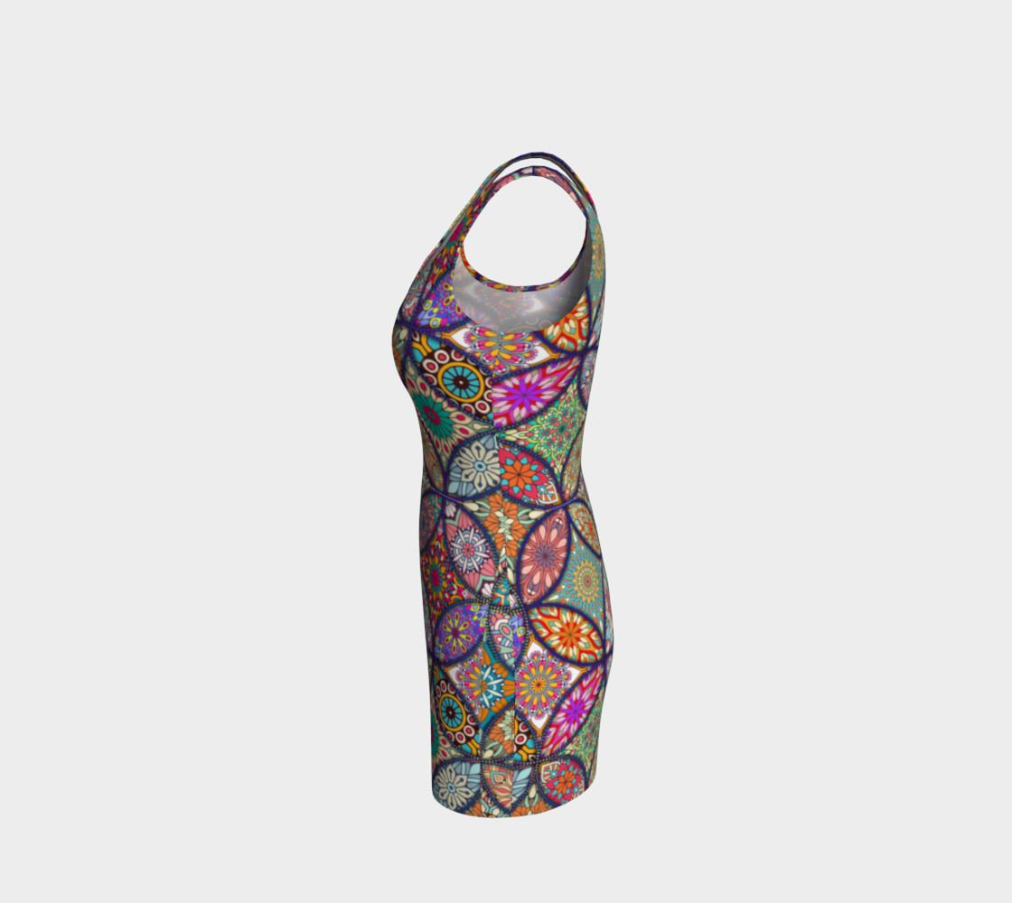 Aperçu de Vibrant Mandalas Bodycon Dress #2