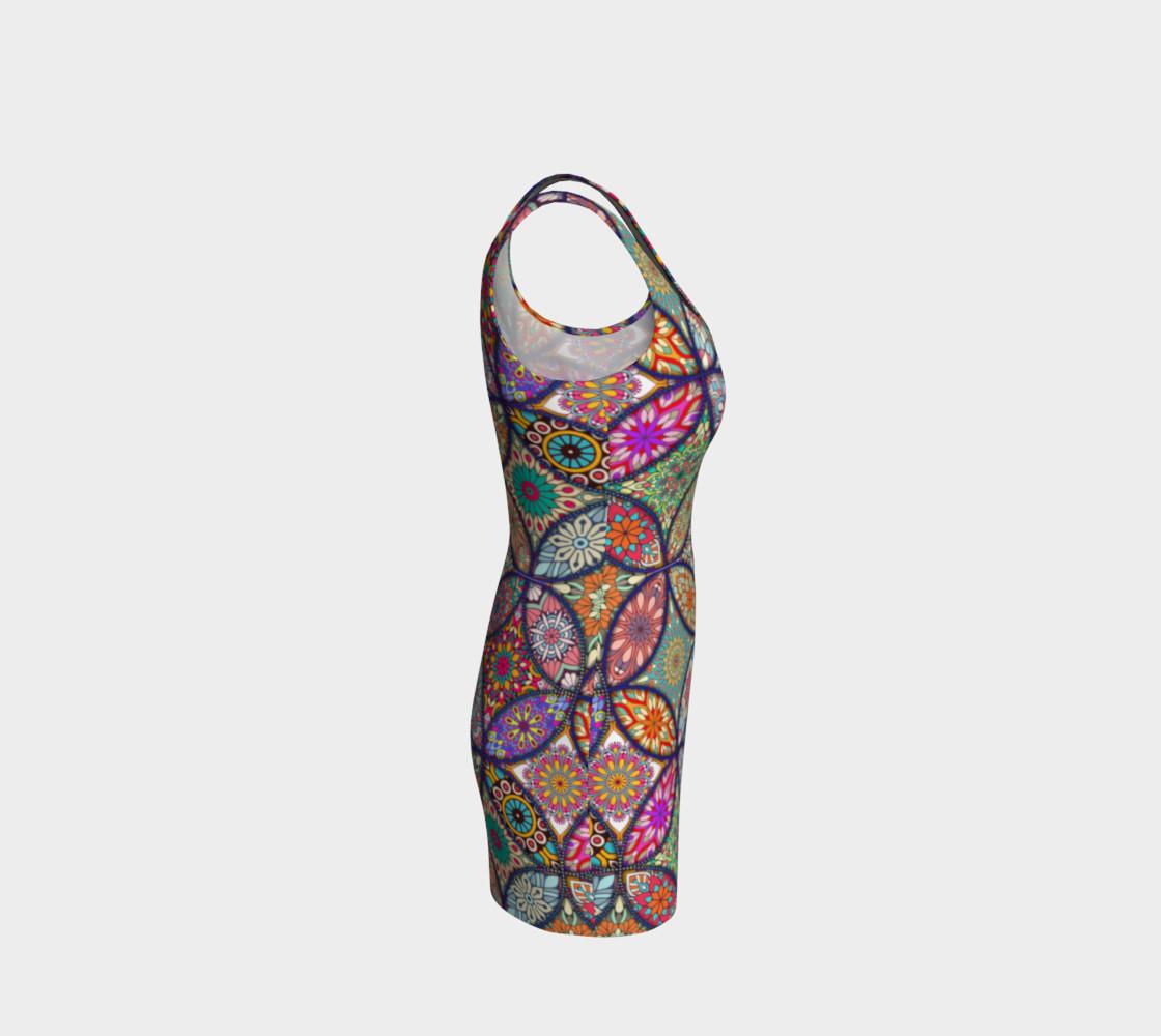 Aperçu de Vibrant Mandalas Bodycon Dress #4