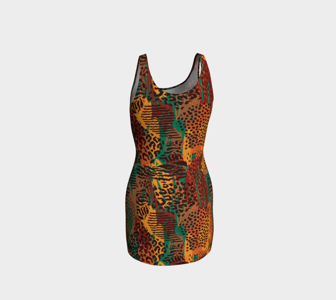 Safari Animal Print Mashup Bodycon Dress preview #3