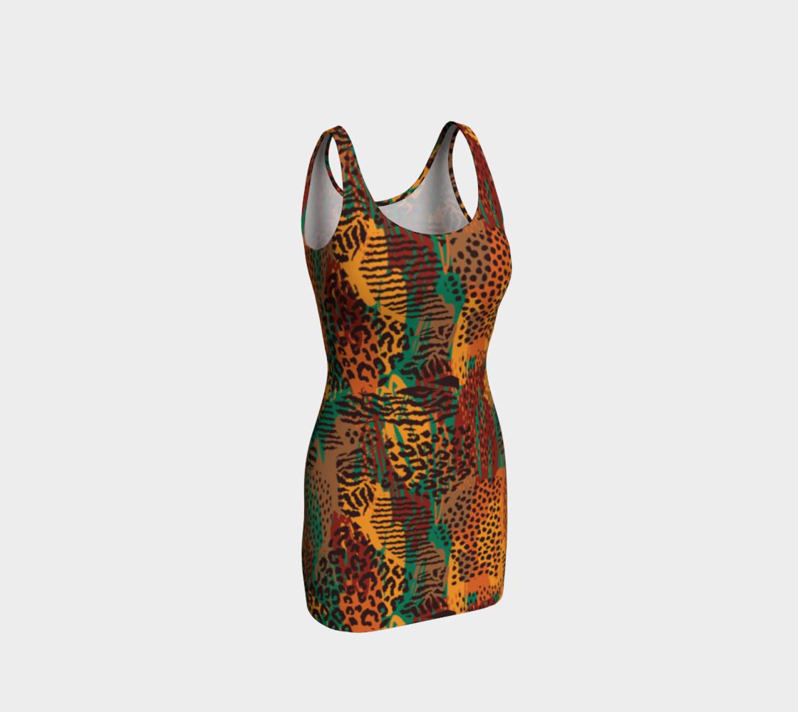 Safari Animal Print Mashup Bodycon Dress preview #1