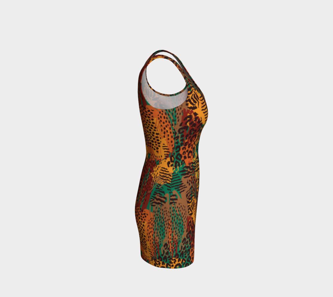Safari Animal Print Mashup Bodycon Dress preview #4