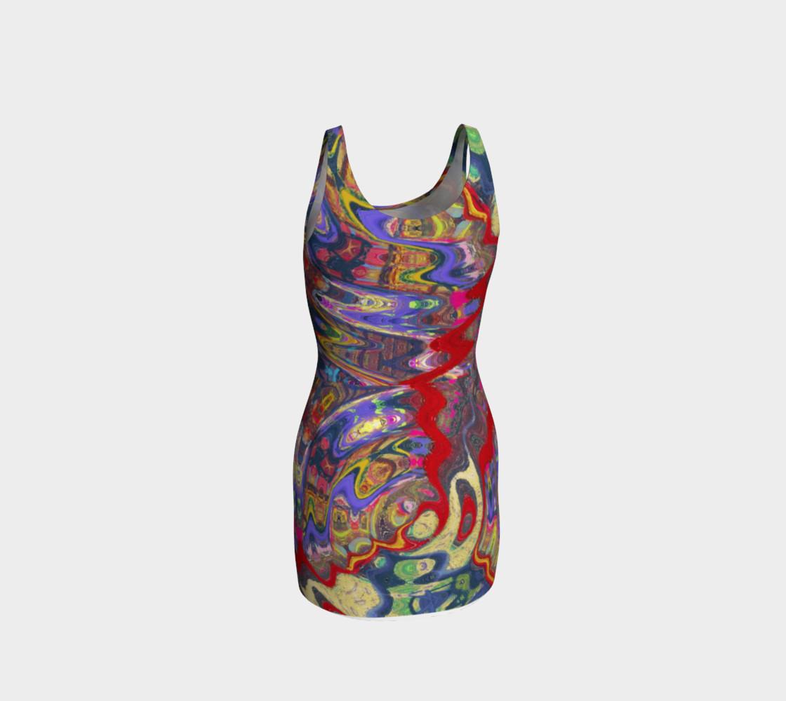 Aperçu de Roller Coaster Circus Pinball-Print Party Dress #3