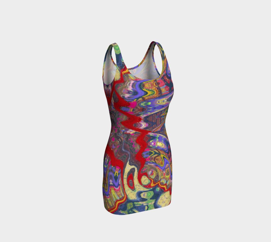 Aperçu de Roller Coaster Circus Pinball-Print Party Dress #1