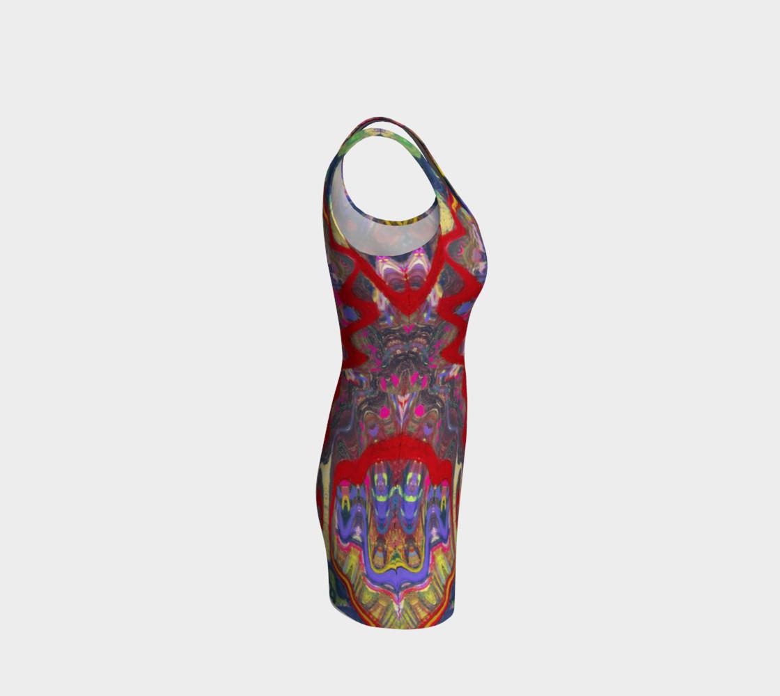 Aperçu de Roller Coaster Circus Pinball-Print Party Dress #4