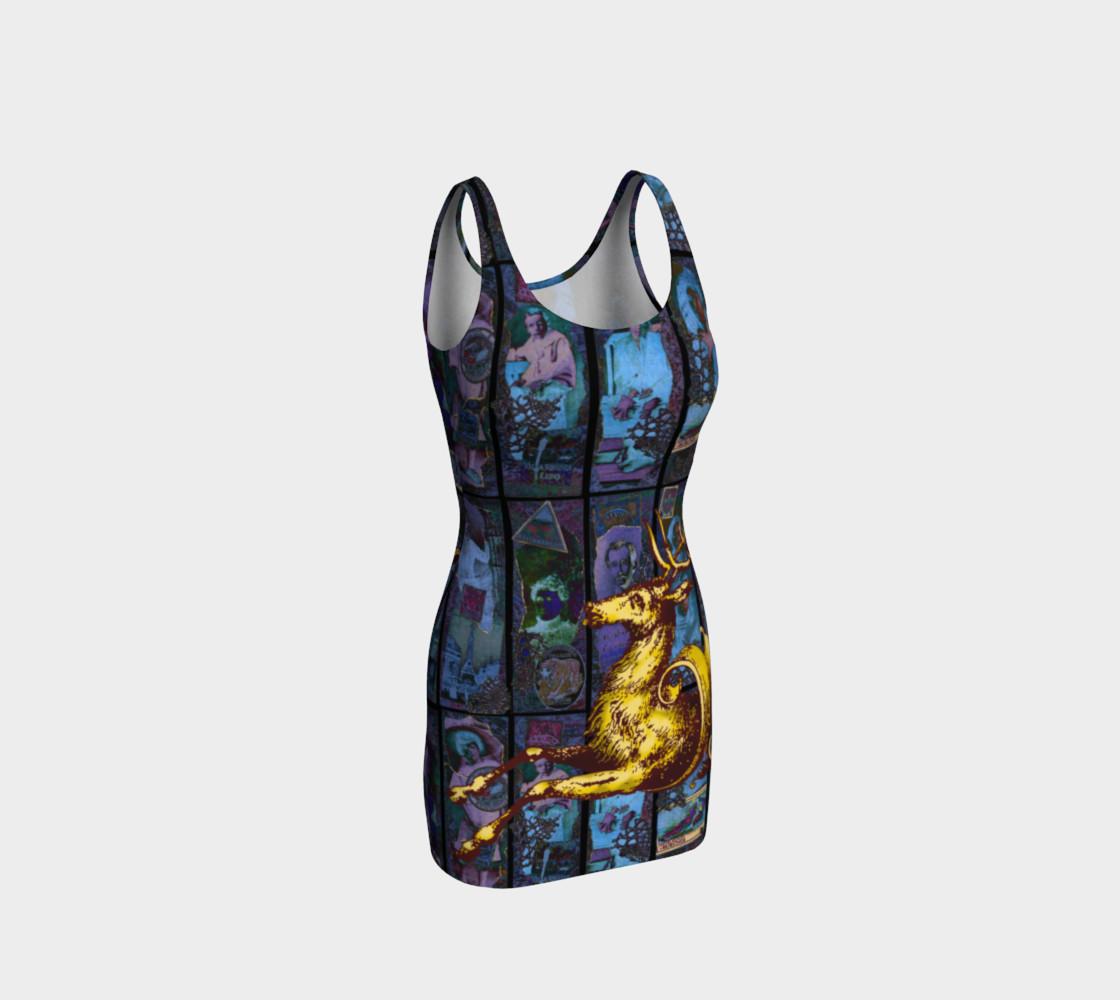 Aperçu de Adopted Ancestors: Blue & Gold - Bodycon Dress #1