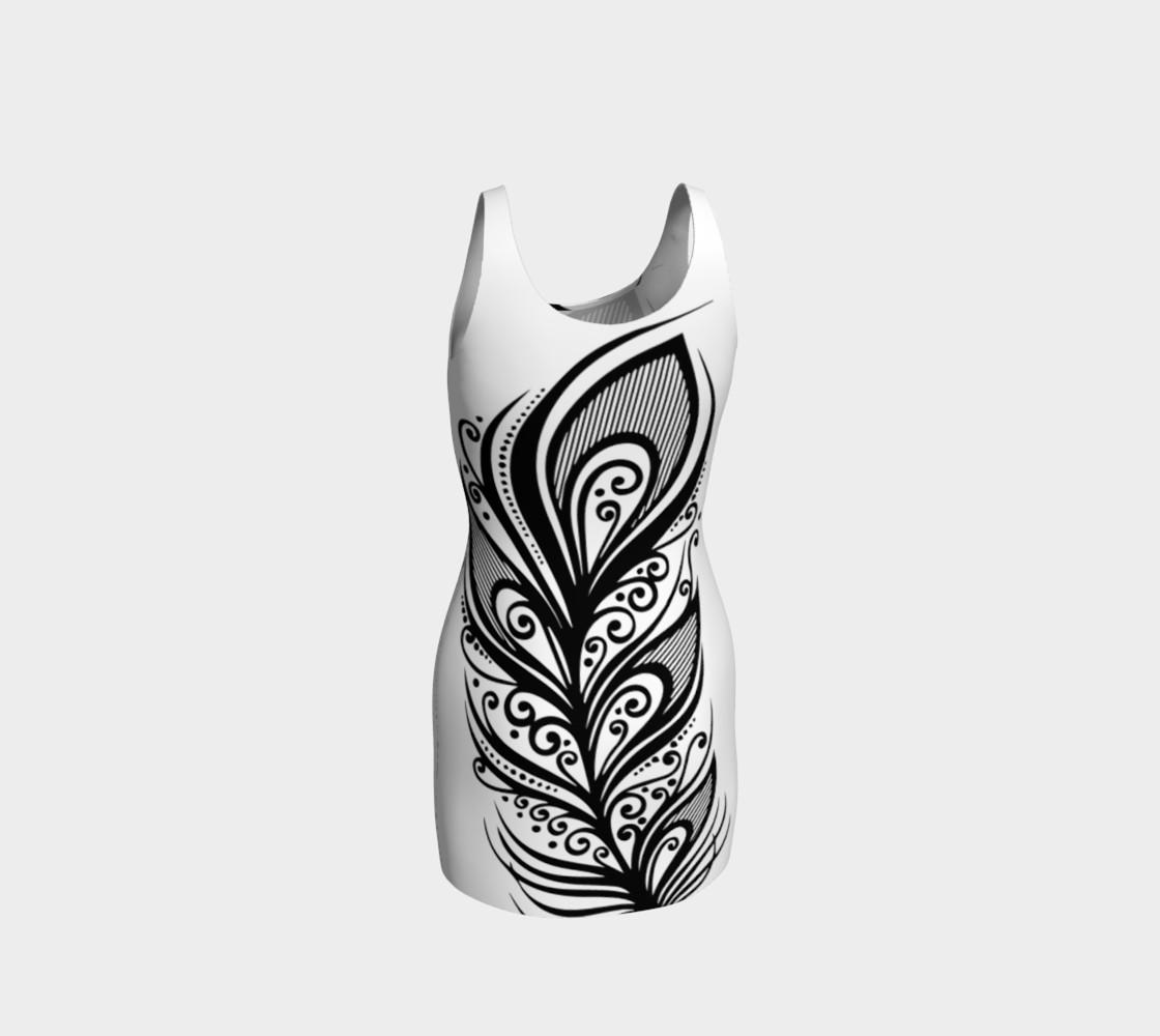 Aperçu de Abstract Feather Dress #3