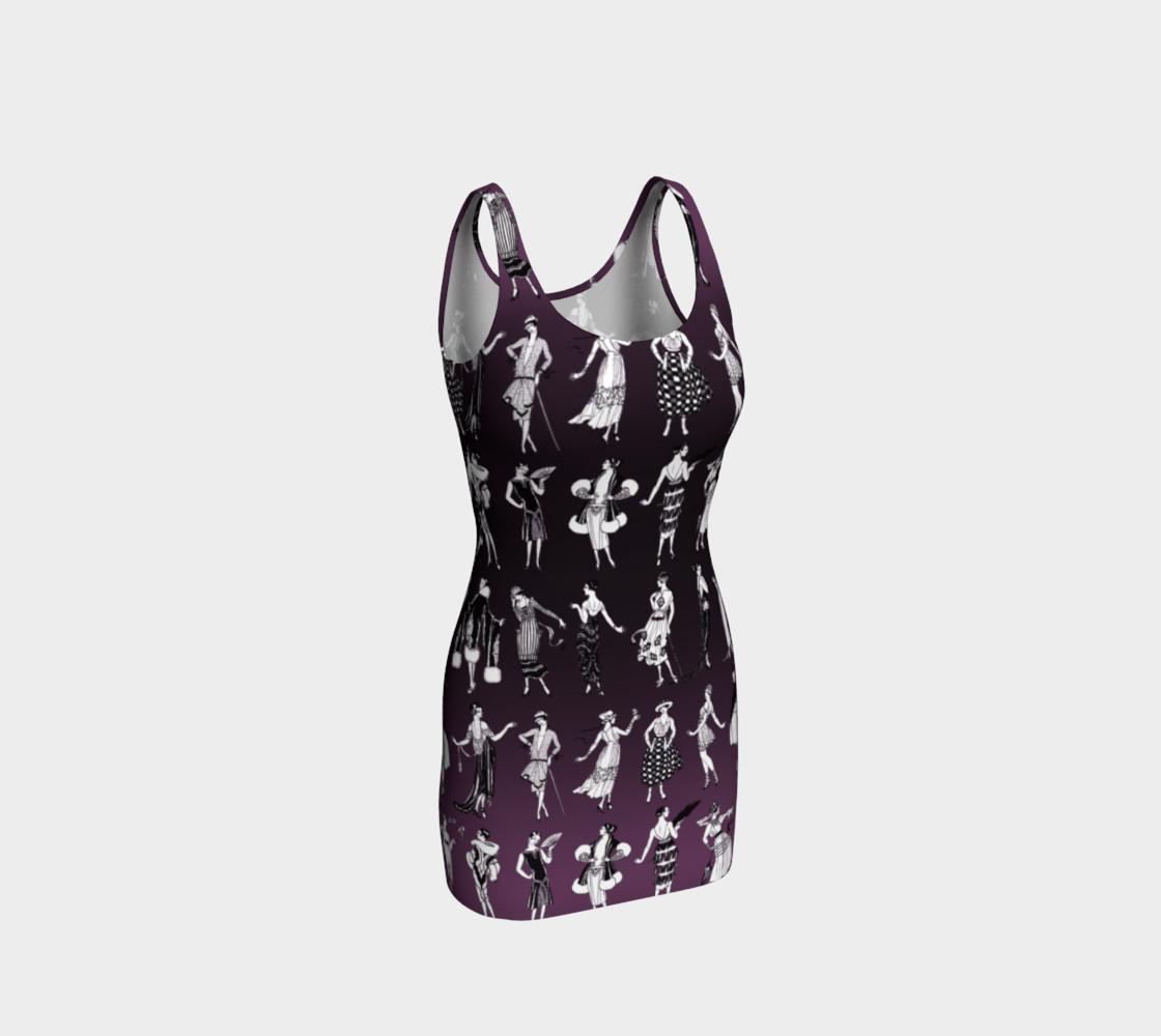 Aperçu de La Vie Parisienne Aubergine - Bodycon Dress #1