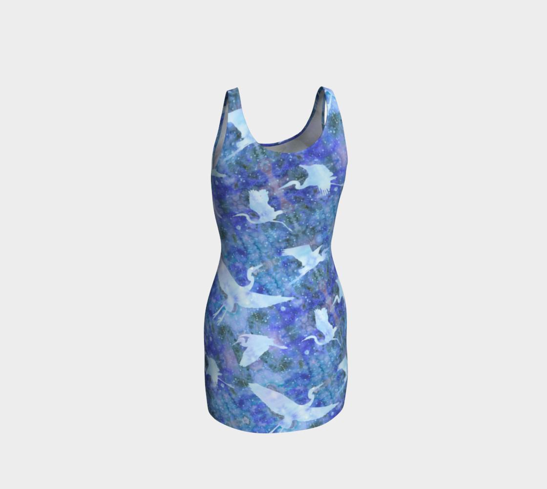 Aperçu de Starry Cranes - Bodycon Dress #3