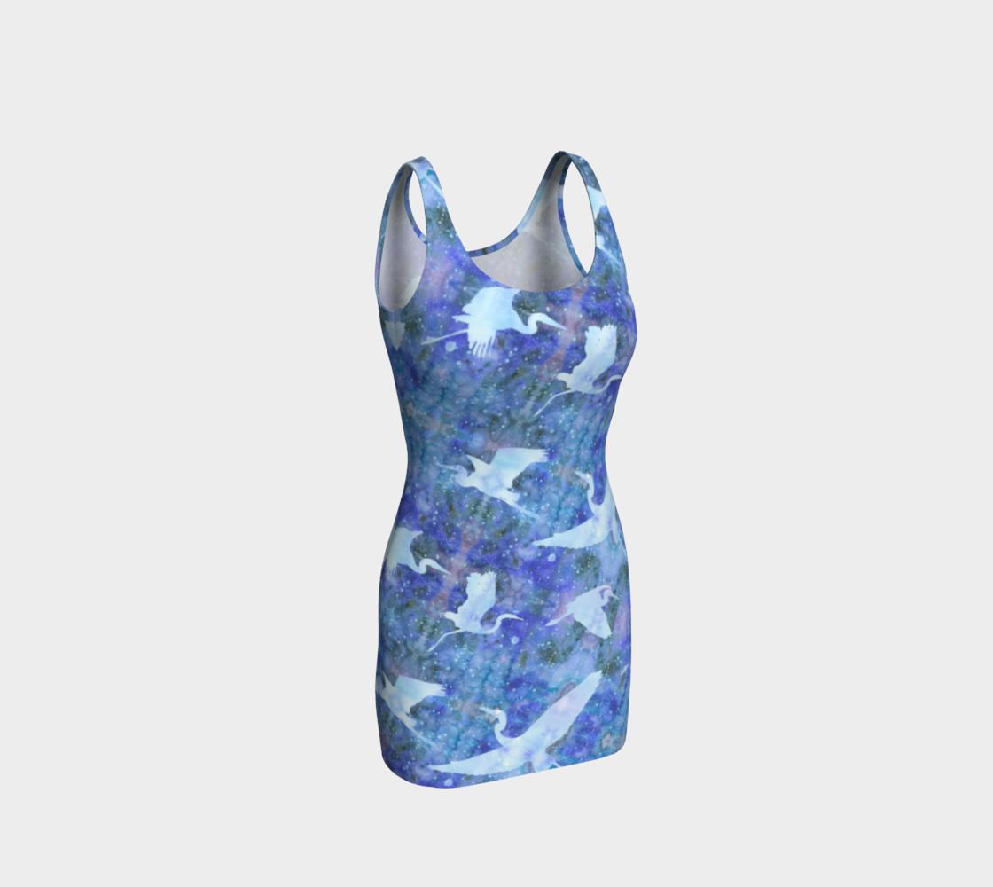 Aperçu de Starry Cranes - Bodycon Dress #1