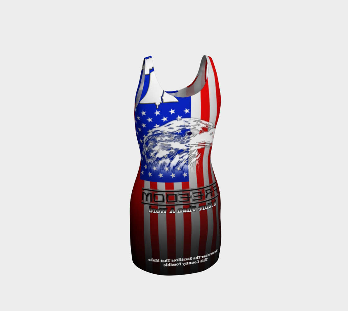 Freedom Is More Than A Word Liberty Bodycon Dress preview #3