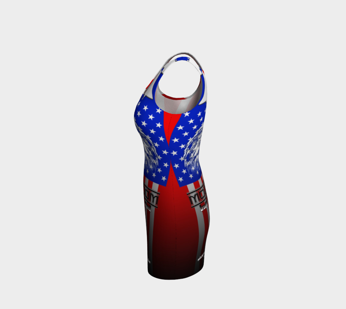 Freedom Is More Than A Word Liberty Bodycon Dress preview #2