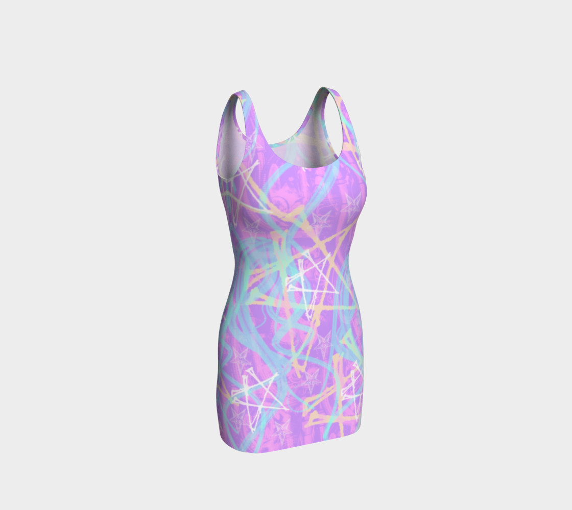 Aperçu de Pastel Pentagram Goth Dress by Tabz Jones  #1