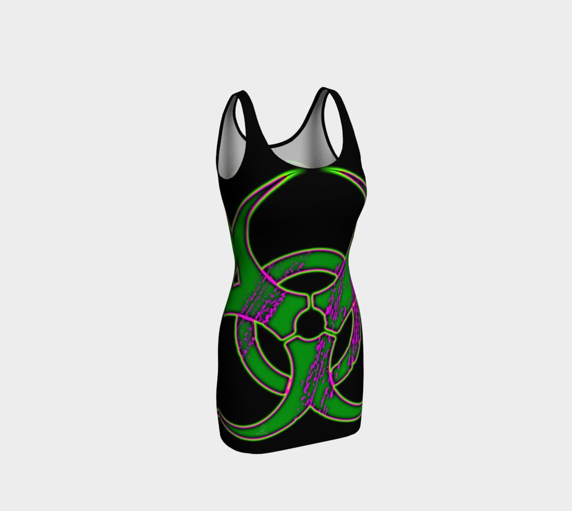 Aperçu de Green Bio Hazard Cyber Goth Dress by Tabz Jones  #1