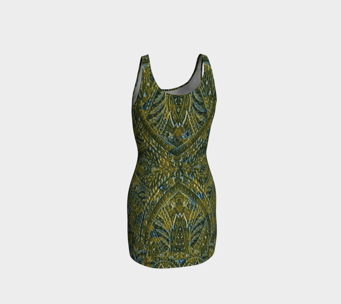 Embossed Lace Vintage Print Dress by Tabz Jones  preview #3