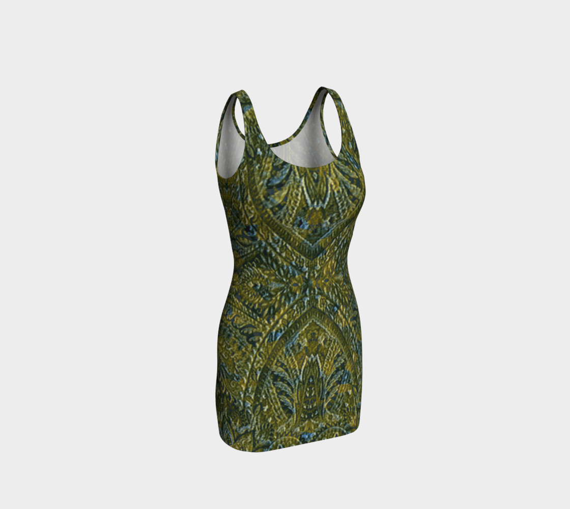Embossed Lace Vintage Print Dress by Tabz Jones  preview #1