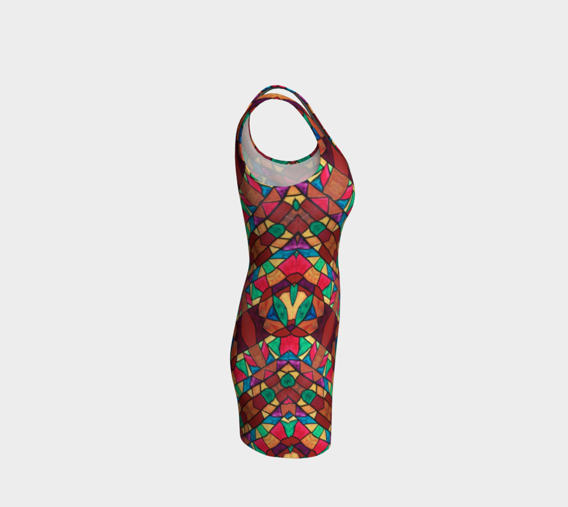 Penobscot Stained Glass Bodycon Dress preview #4