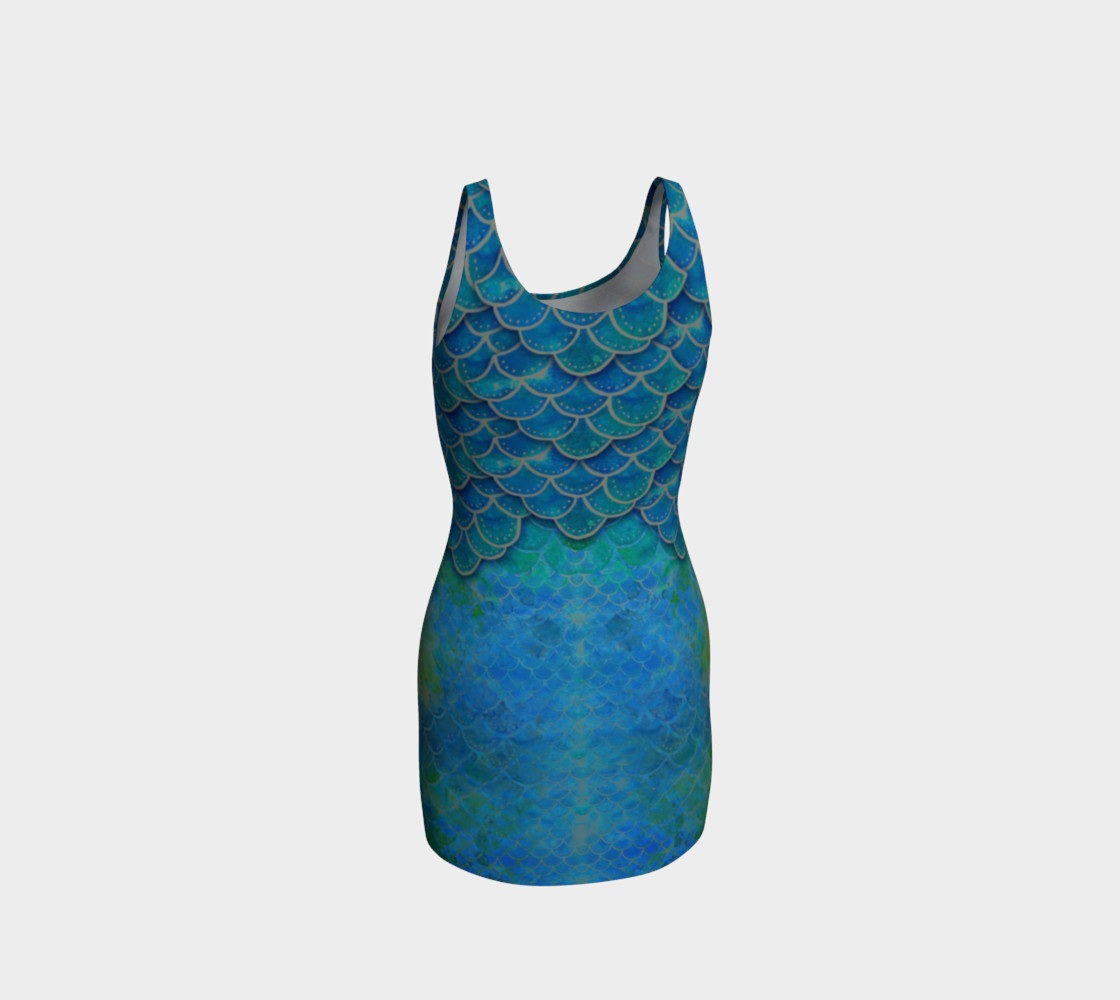 Mermaid Scales Body Con Dress No. 2 preview #3