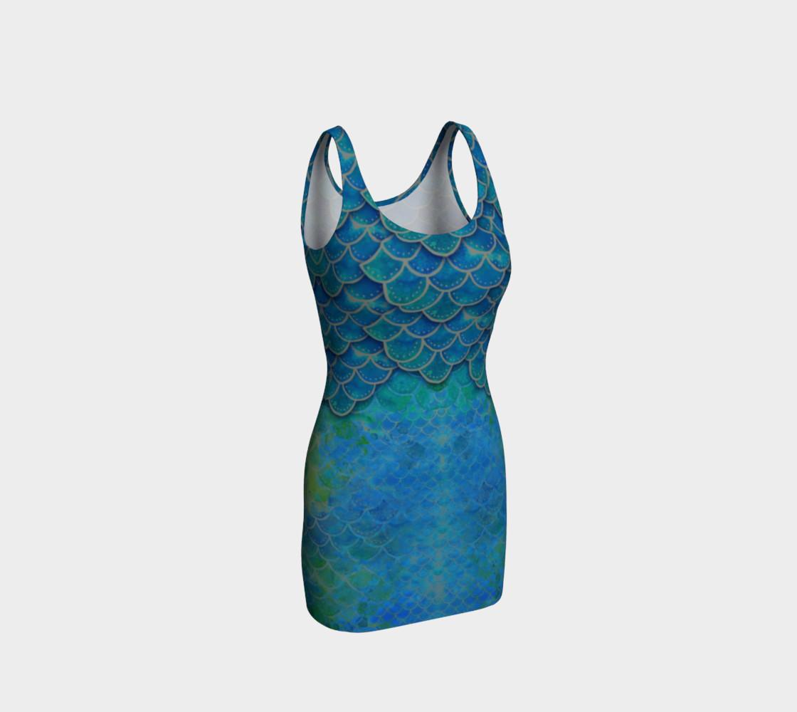 Mermaid Scales Body Con Dress No. 2 preview #1