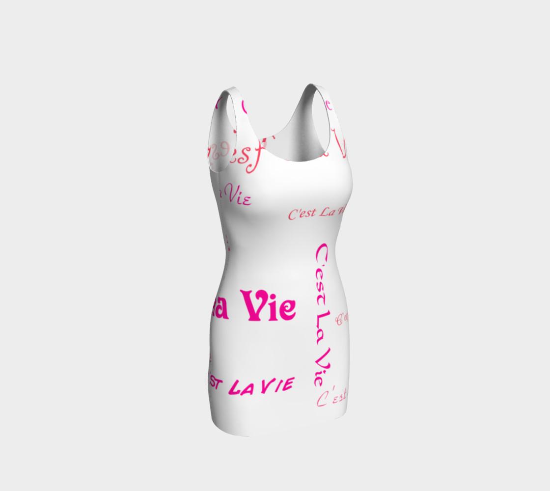 Fuchsia C'est La Vie Bodycon Dress preview #1