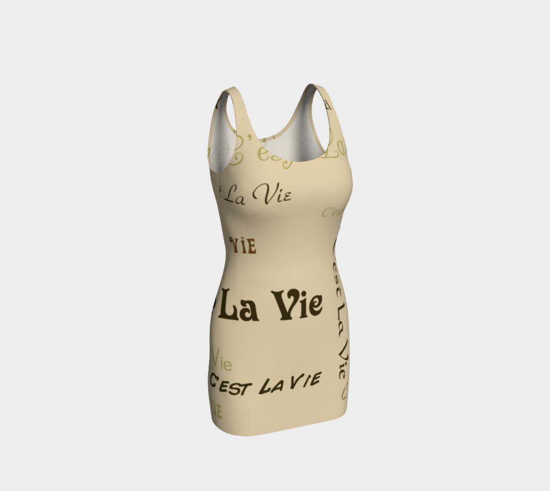 Coffee C'est la Vie Bodycon Dress preview #1