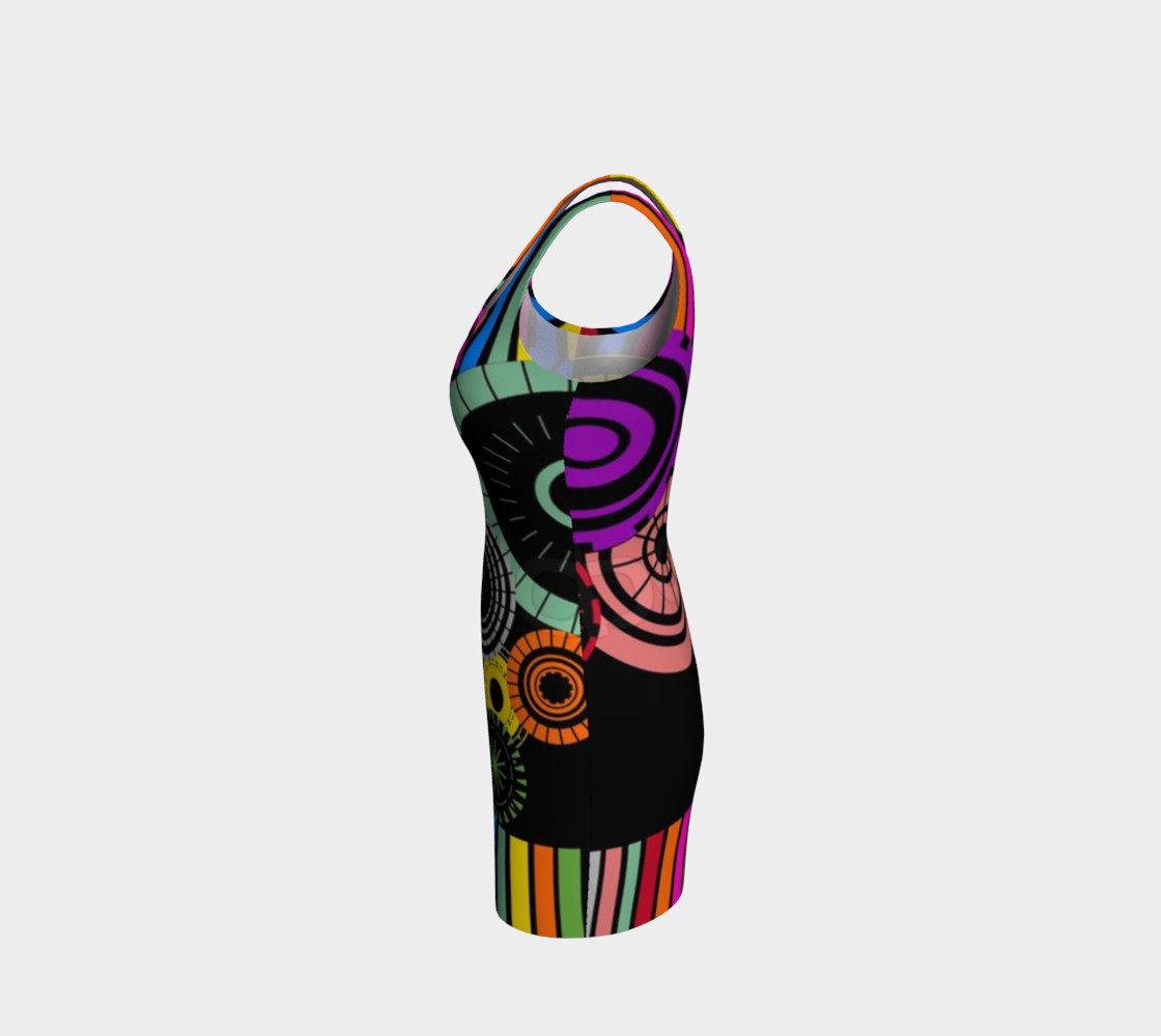 Striped Wheels Bodycon Dress by JoJo (1170006-B) preview #2
