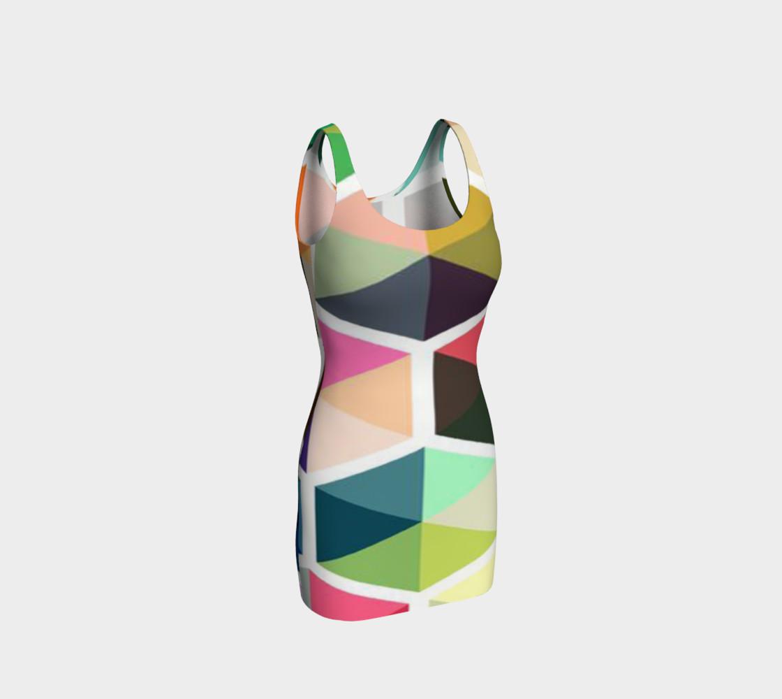 Aperçu de Rainbow Honeycomb Bodycon Dress by JoJo (1170010-B) #1