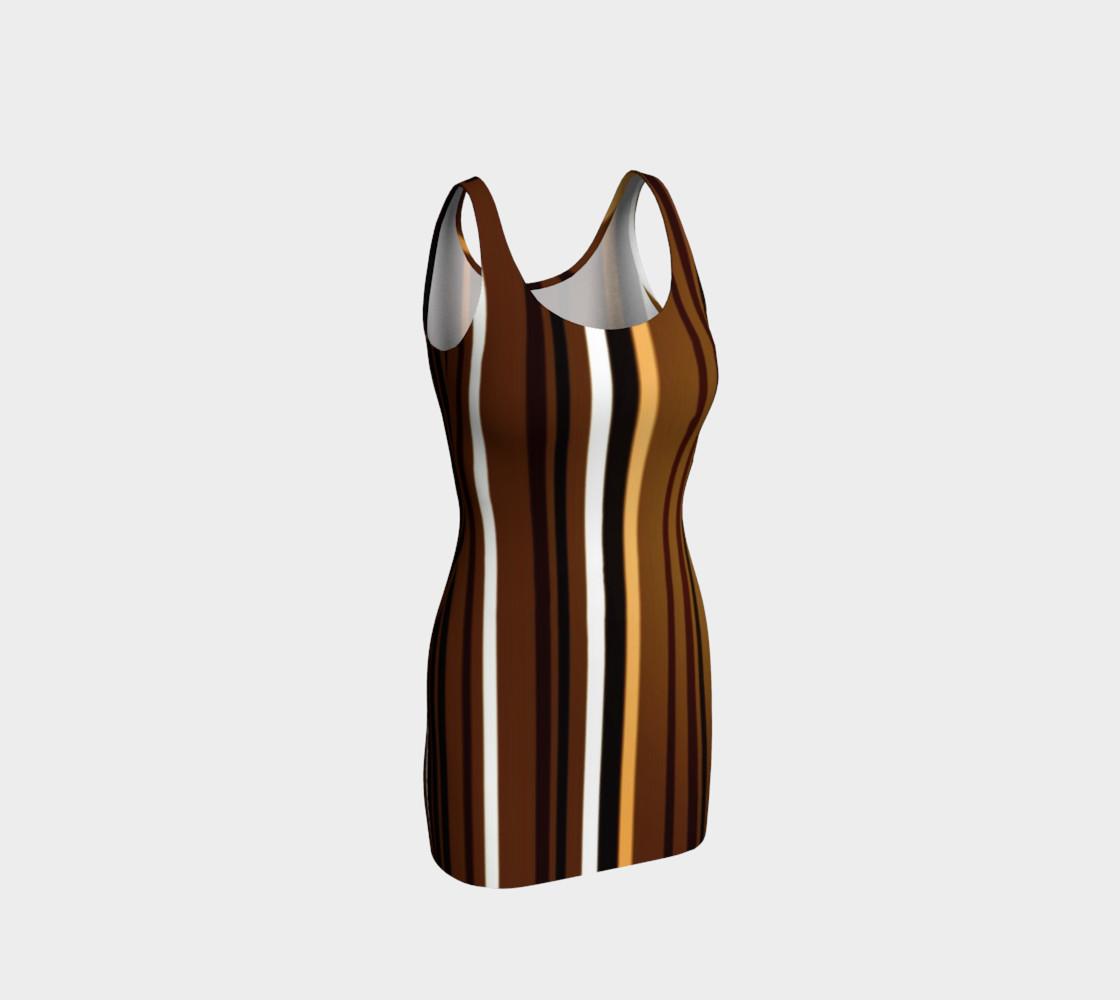 Aperçu de Stripe Me Brown Bodycon Dress by JoJo (1170013-B) #1