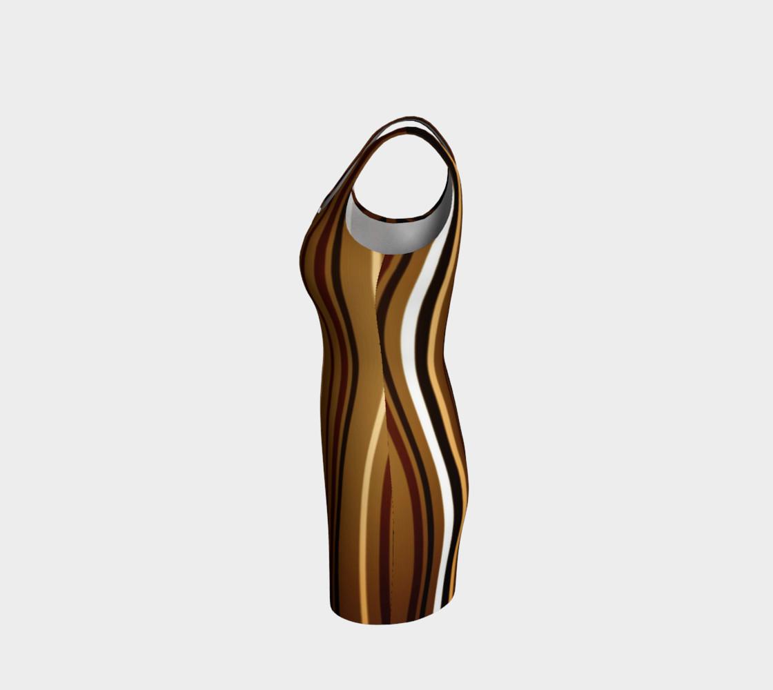 Aperçu de Stripe Me Brown Bodycon Dress by JoJo (1170013-B) #2