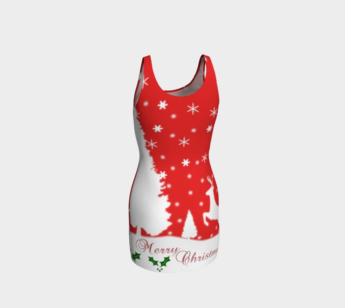Merry Christmas Winter Snowflakes Bodycon Dress preview #3