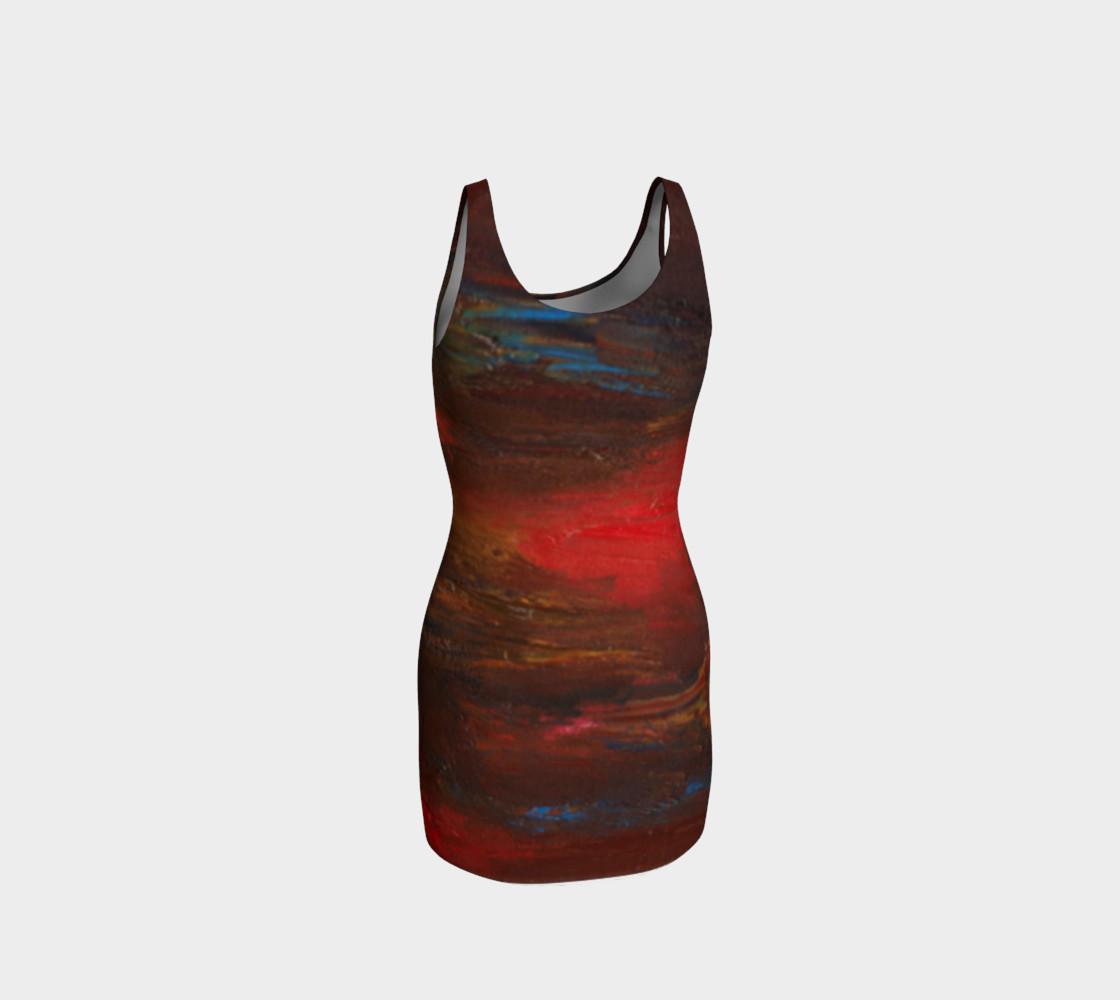Crimson Ocean Bodycon Dress preview #3