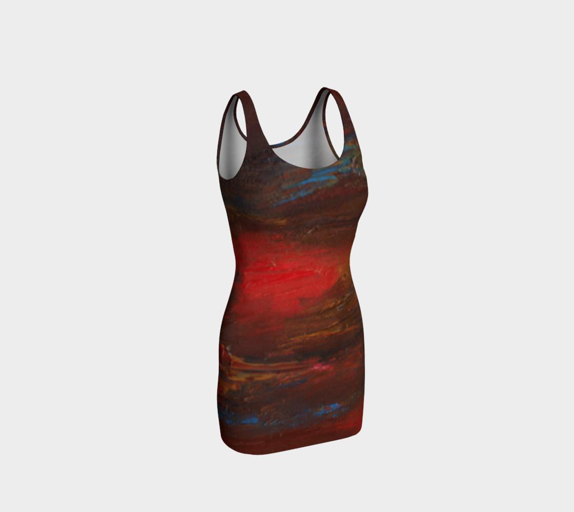 Crimson Ocean Bodycon Dress preview #1