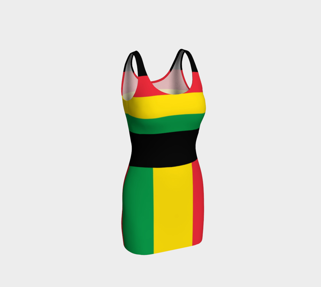 Rasta Colors Green Yellow Red Black Stripes Pattern preview #1