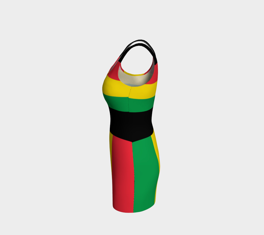 Rasta Colors Green Yellow Red Black Stripes Pattern preview #2