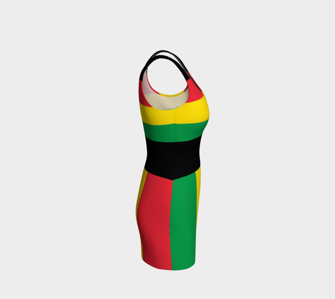 Rasta Colors Green Yellow Red Black Stripes Pattern preview #4