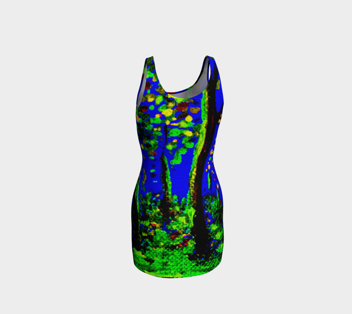Magic Trees at Midnight Bodycon Dress preview #3
