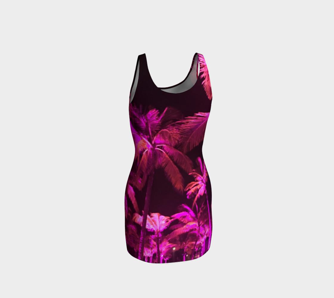 Pink Palms Tank Dress preview #3
