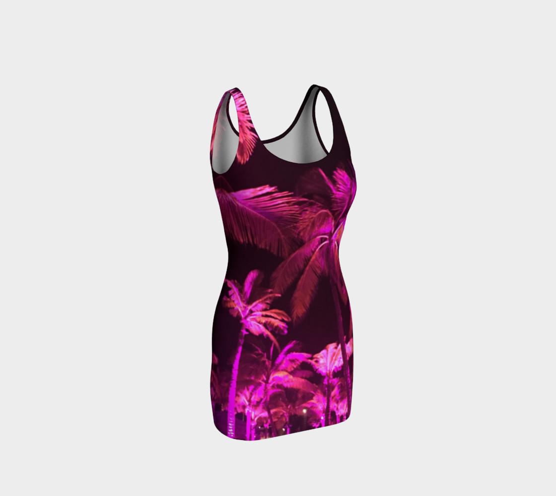 Pink Palms Tank Dress preview #1