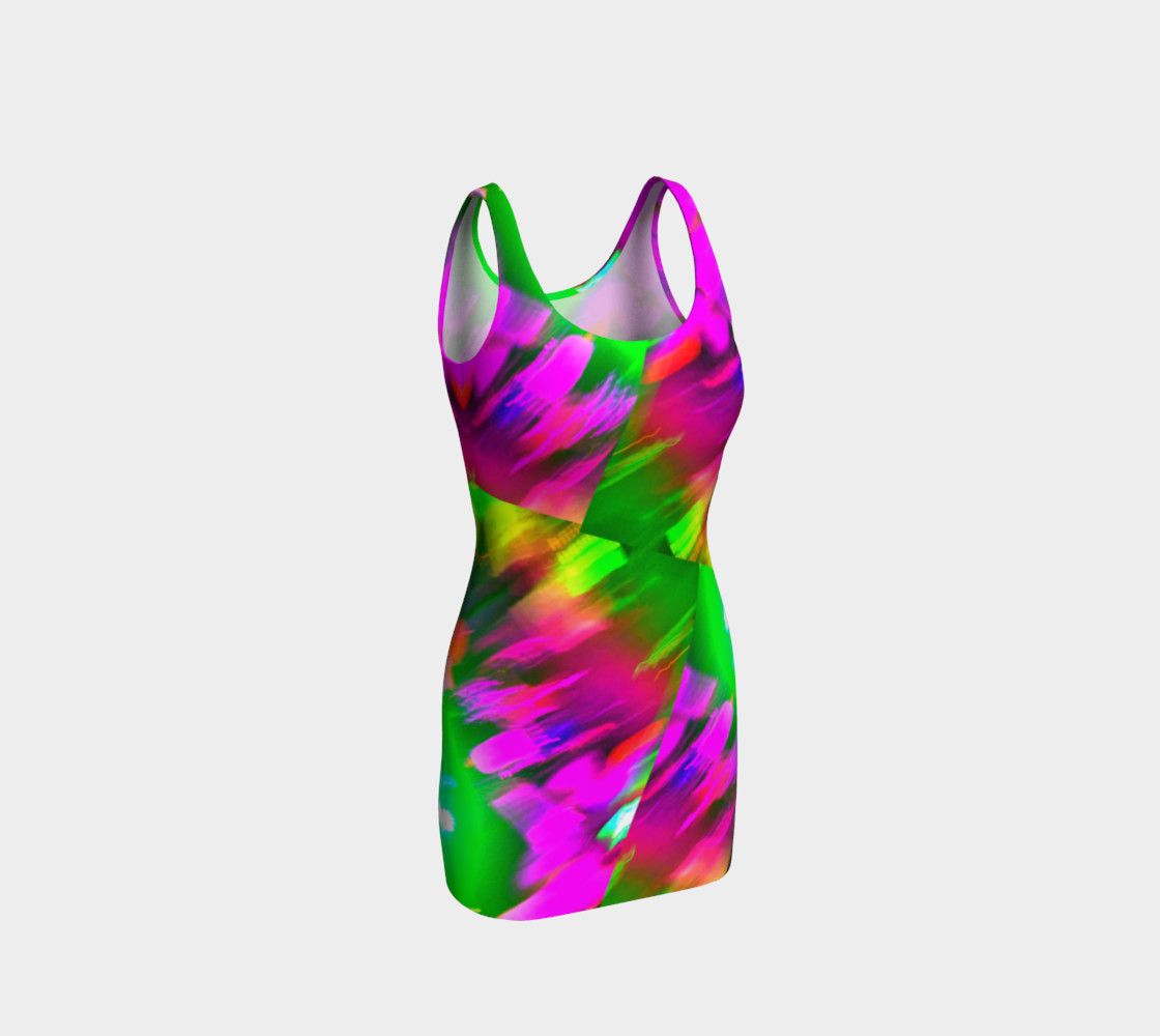 Pink and Green Splash Stacked Tank Dress preview #1