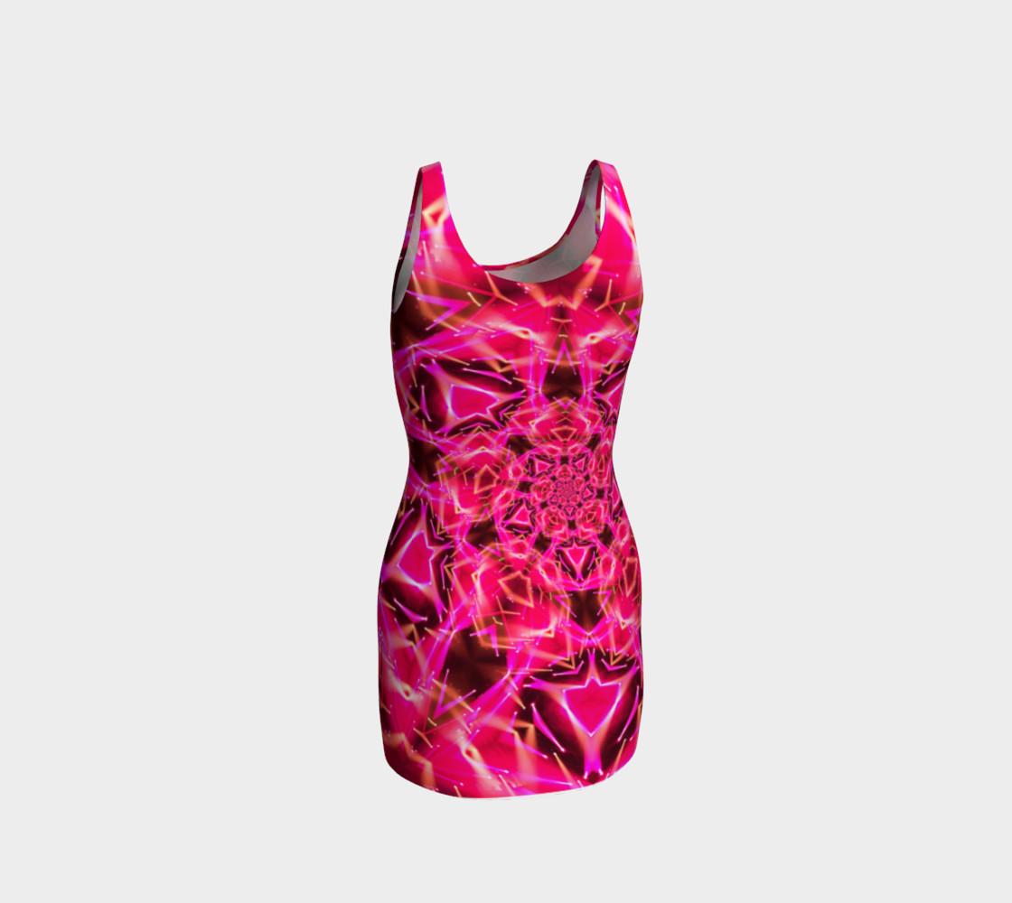 Shocks My Brain Pink Tank Dress preview #3