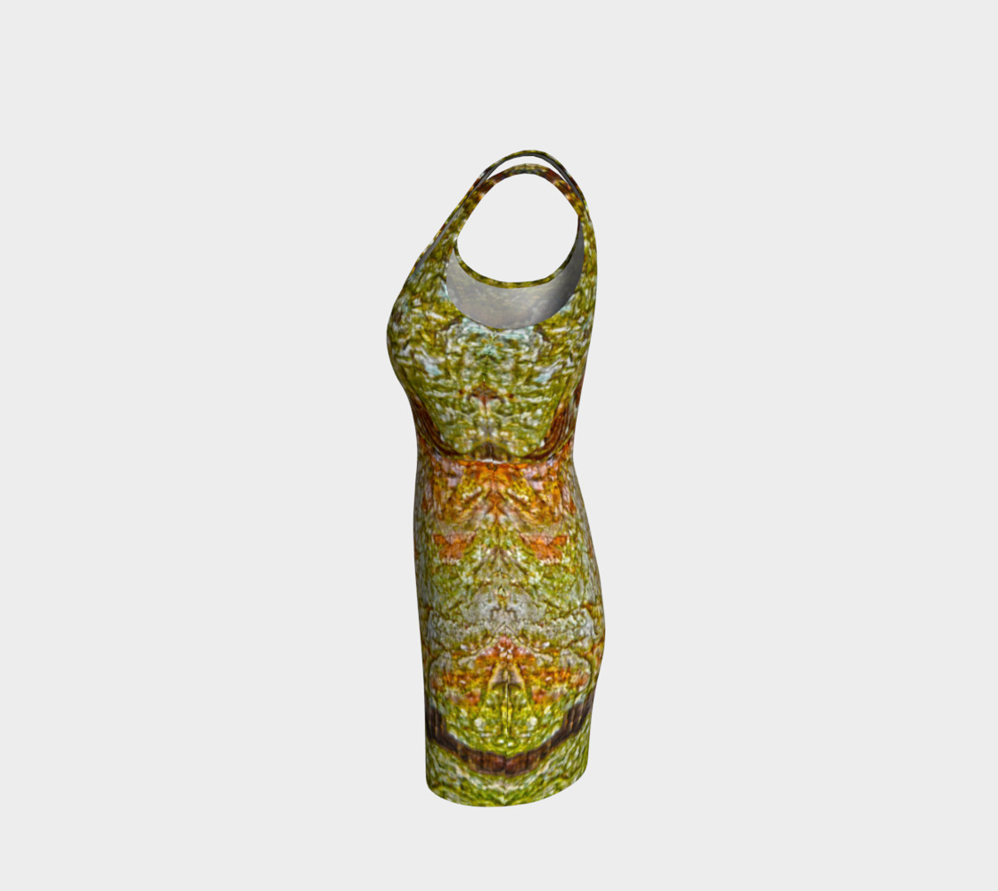 Yellow and Brown Tree Bark Bodycon Dress preview #2