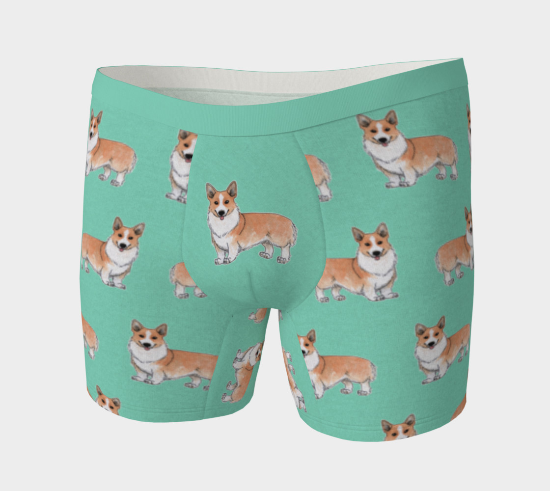 Welsh corgi dogs pattern Boxer Brief preview #3