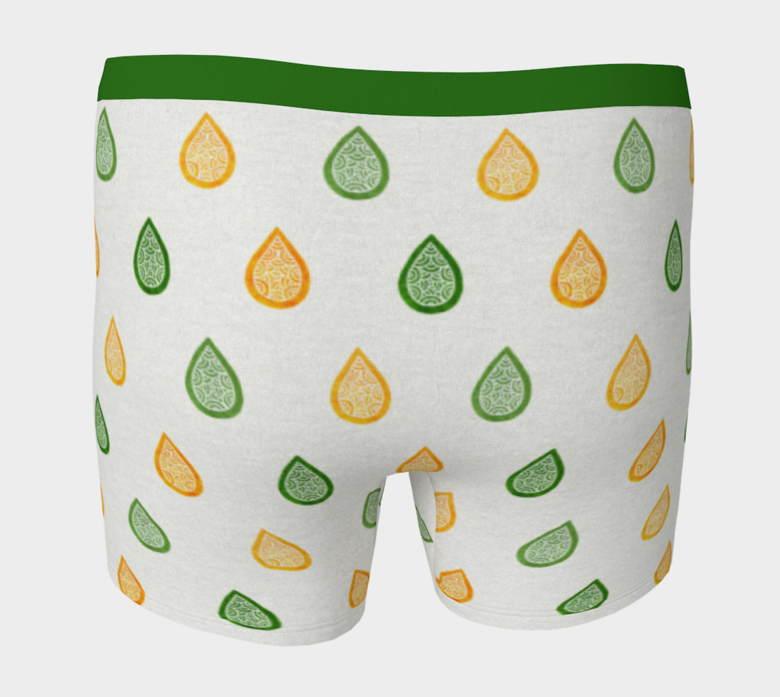 Aperçu de Yellow and green raindrops Boxer Brief #4
