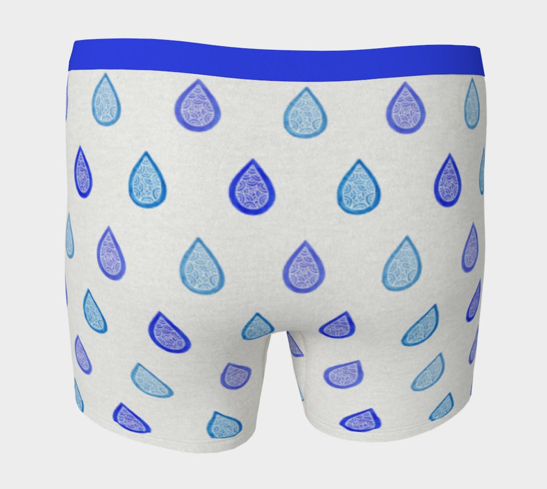 Aperçu de Blue raindrops Boxer Brief #4