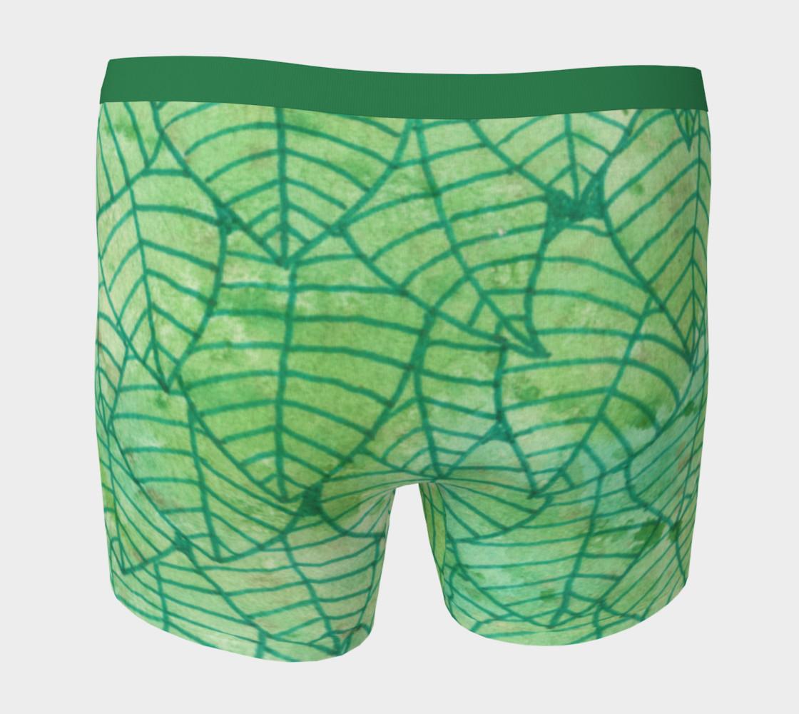 Aperçu de Green foliage watercolor Boxer Brief #4