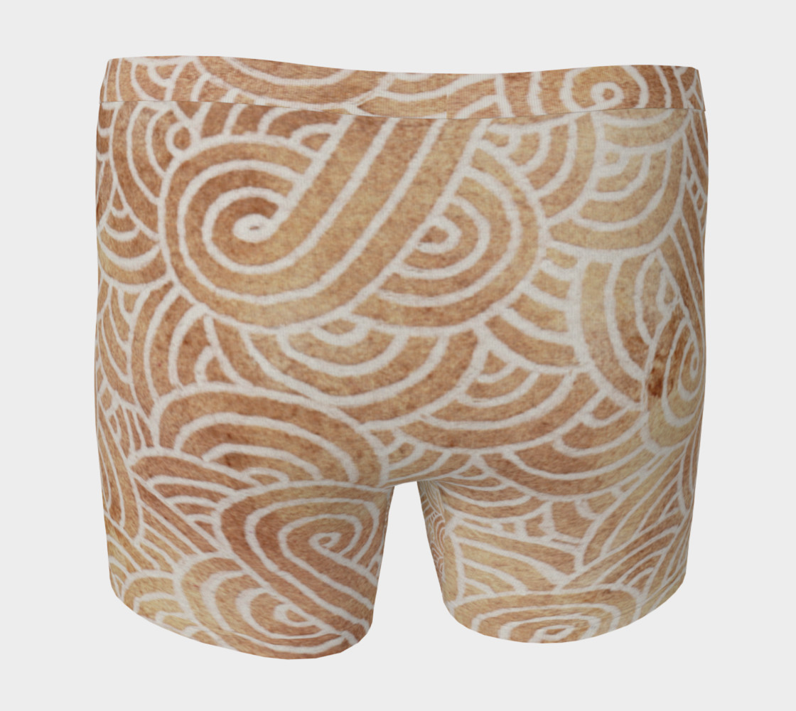 Aperçu de Iced coffee and white swirls doodles Boxer Brief #4