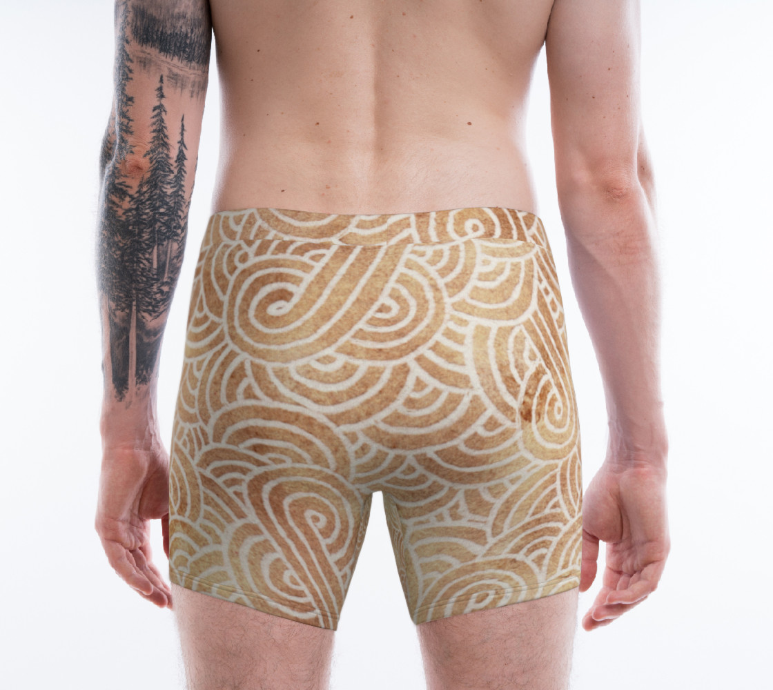 Aperçu de Iced coffee and white swirls doodles Boxer Brief #2